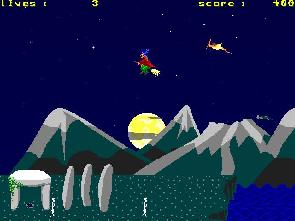 screenshot of jump and run game